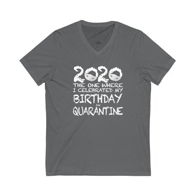 2020 My Birthday in Quarantine - Adult VNeck