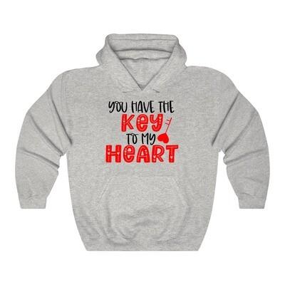 Key to my Heart - Adult Hoodie