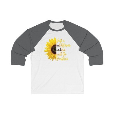Wildflower Sunshine - Adult 3/4 Raglan