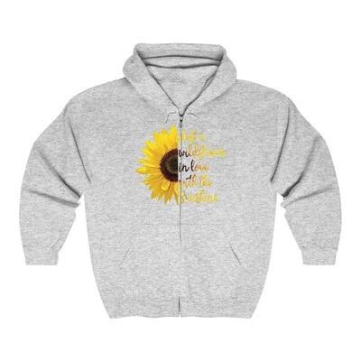 Wildflower Sunflower - Adult Zip Hoodie