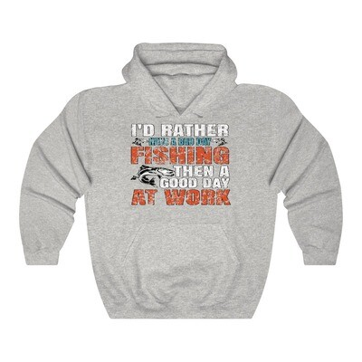 Bad Day Fishing - Adult Hoodie