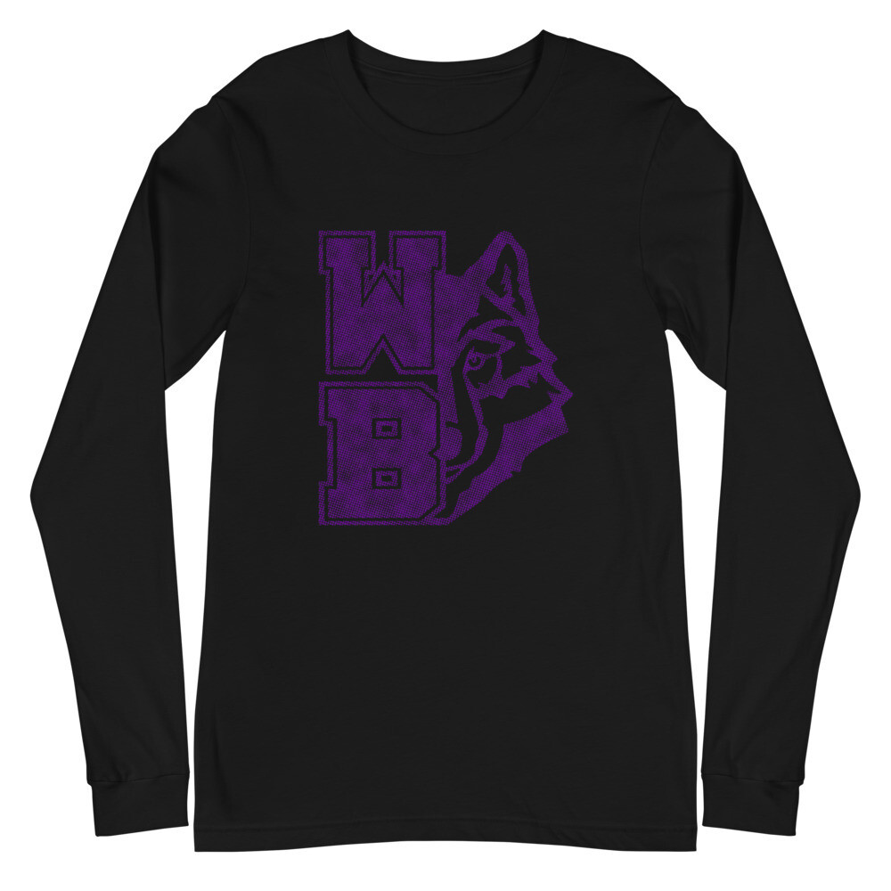 WB Wolf (P) - Unisex - Long Sleeve Tee - Bella+Canvas 3501