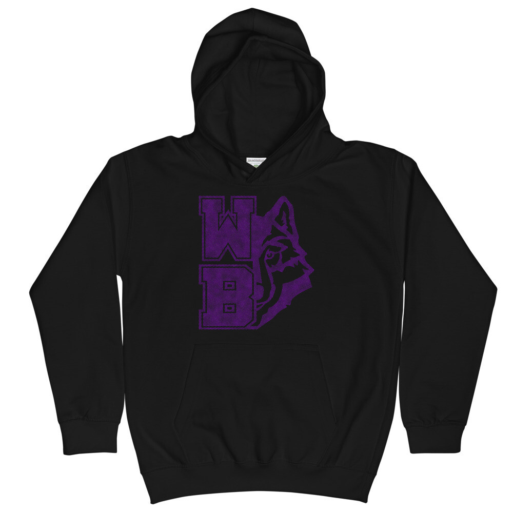 WB Wolf (P) - Youth - Hoodie