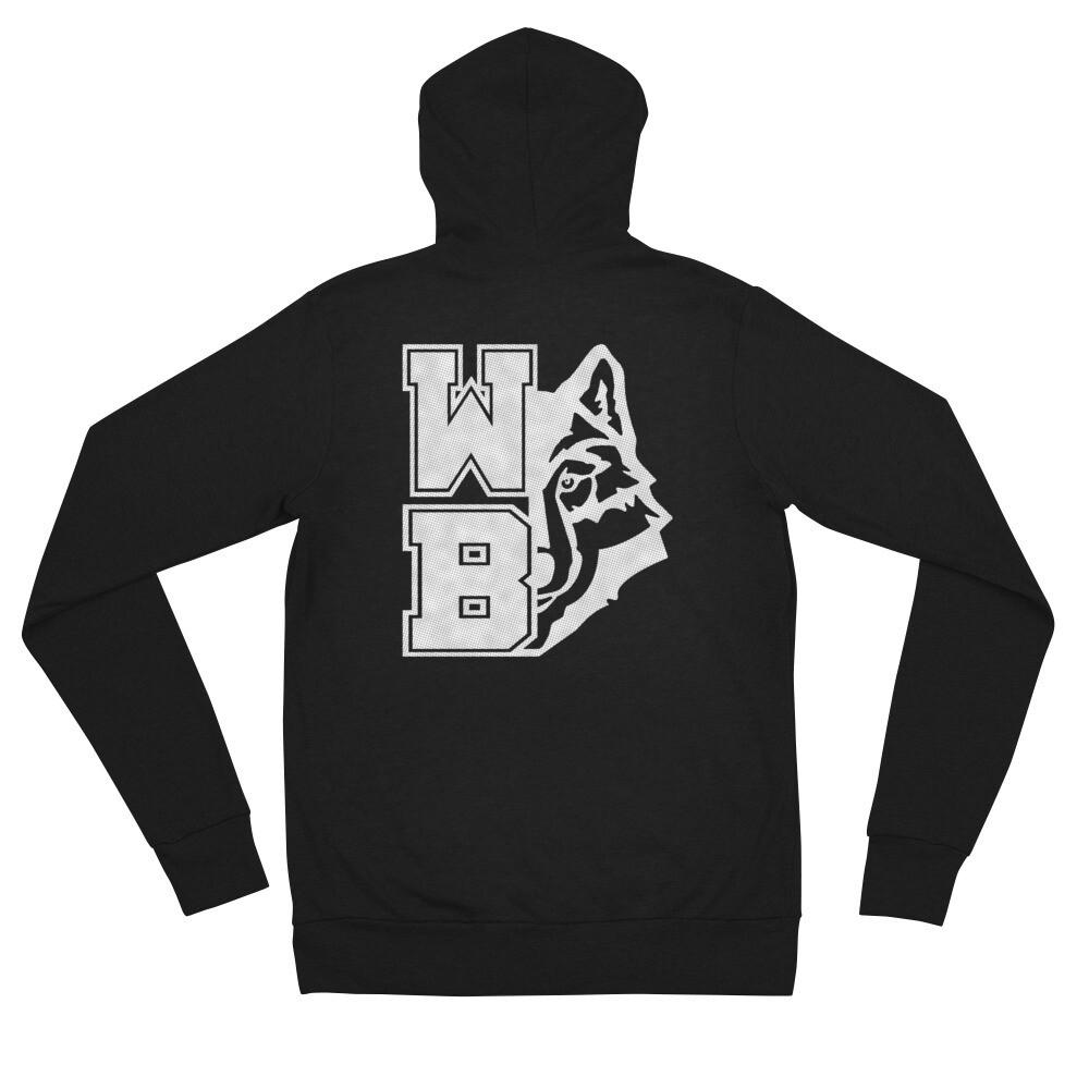 WB Wolf (GW) - Unisex Lightweight Zip Hoodie - Bella+Canvas 3939