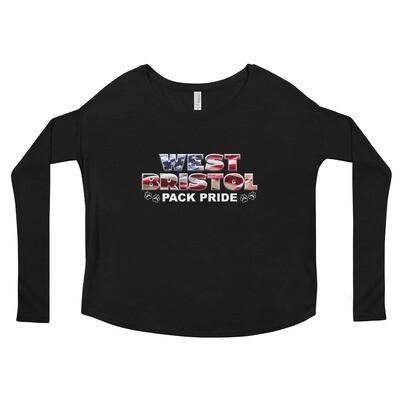 WB Pack Pride - Women's - Flowy Long Sleeve Shirt - Bella+Canvas 8852