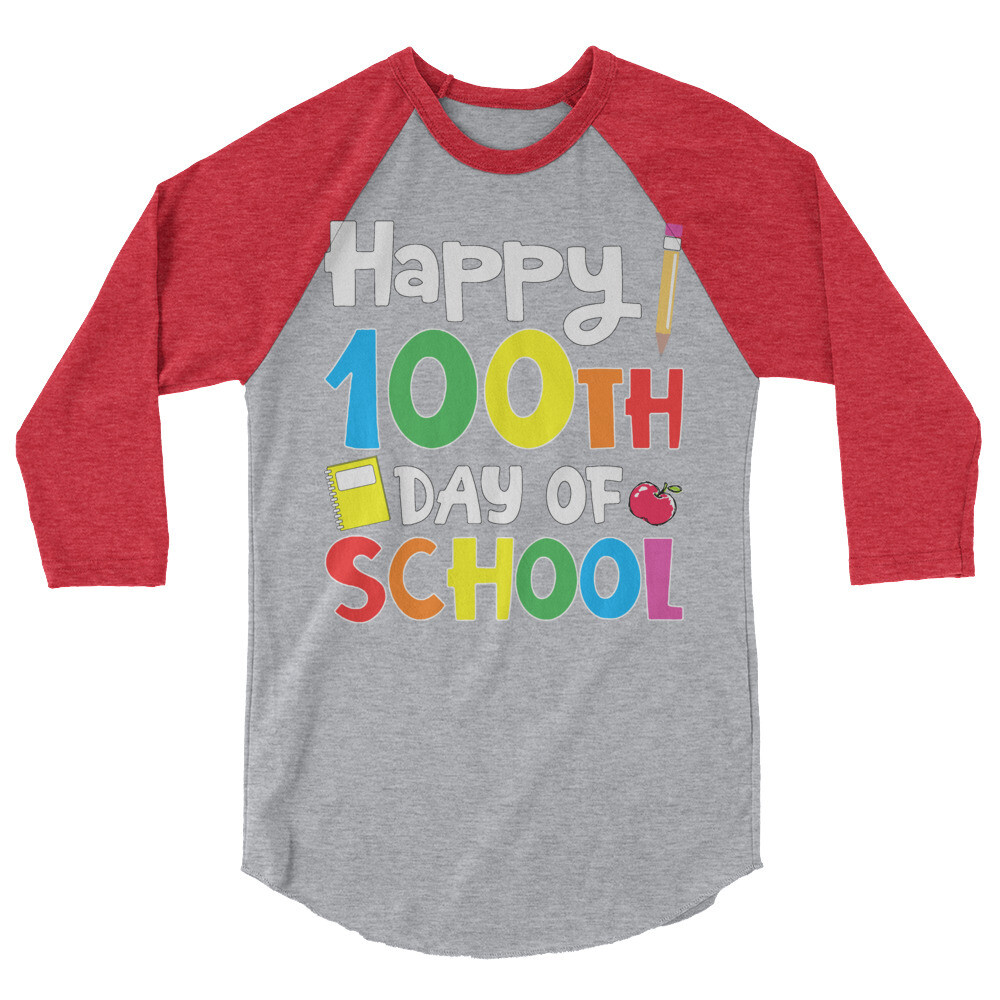 100 Days 20 - Unisex - 3/4 Sleeve Raglan Shirt - Tultex 245
