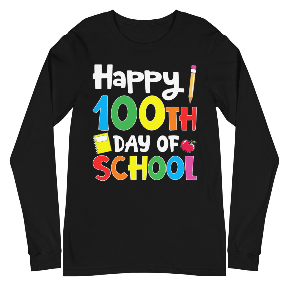 100 Days 20 - Unisex - Long Sleeve Tee - Bella+Canvas 3501
