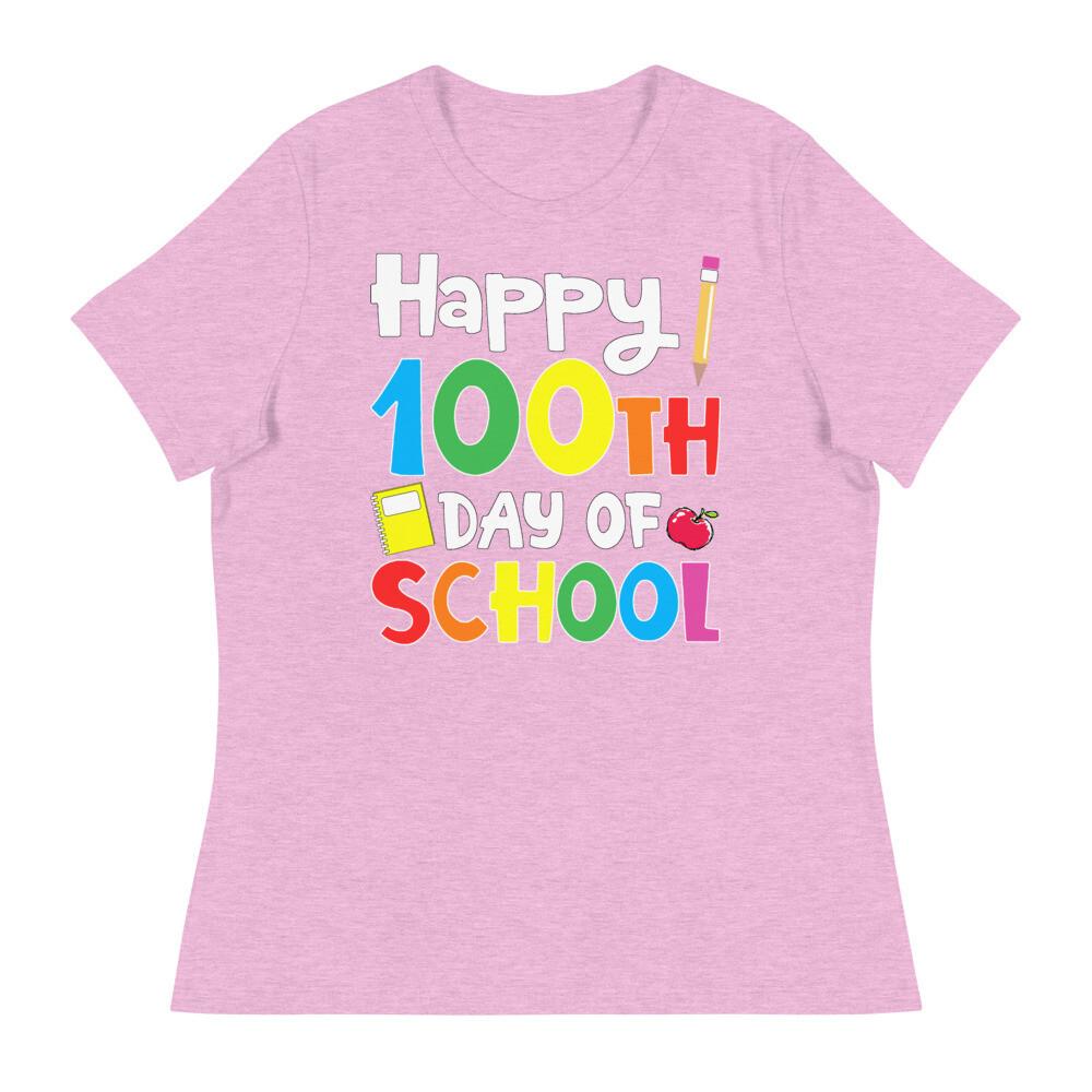 100 Days 20 - Women's - Relaxed T-Shirt - Bella+Canvas 6400