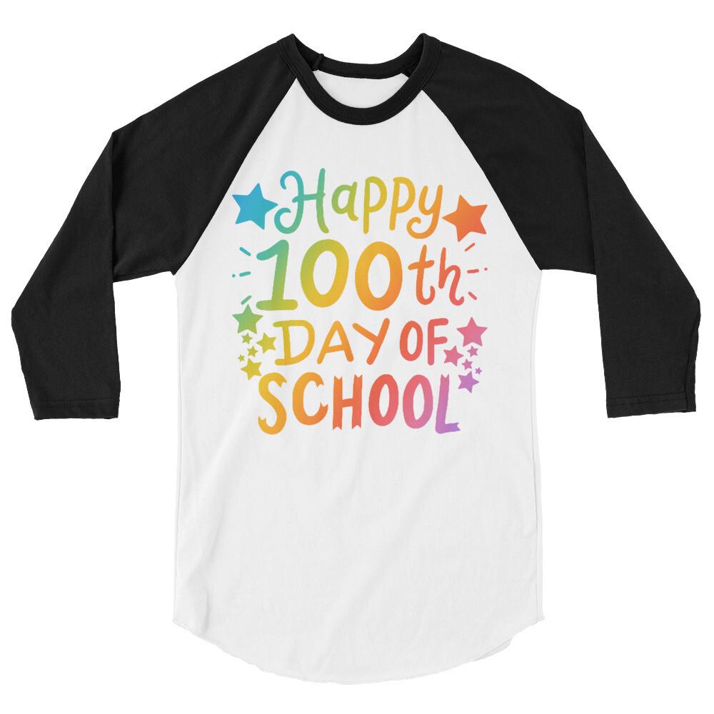100 Days 21 - Unisex - 3/4 Sleeve Raglan Shirt - Tultex 245