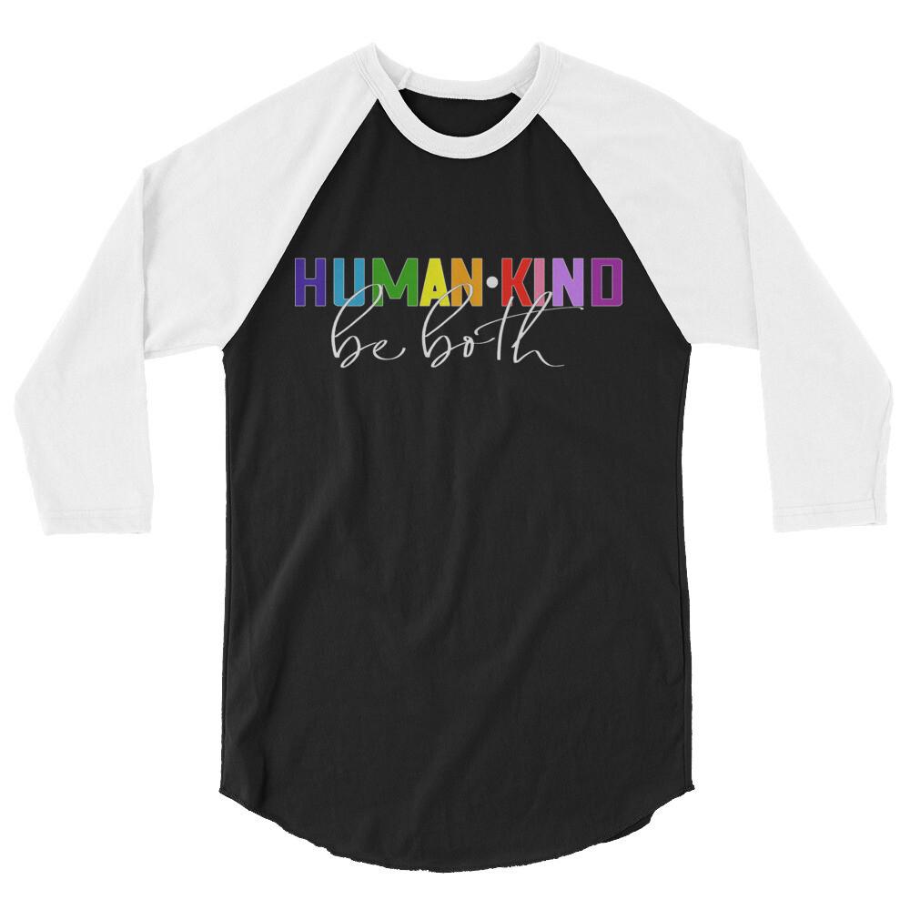 Human•Kind - Unisex - 3/4 Sleeve Raglan Shirt - Tultex 245