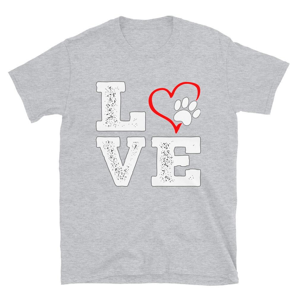 LOVE PAWS - Unisex - Basic Softstyle T-Shirt - Gildan 64000