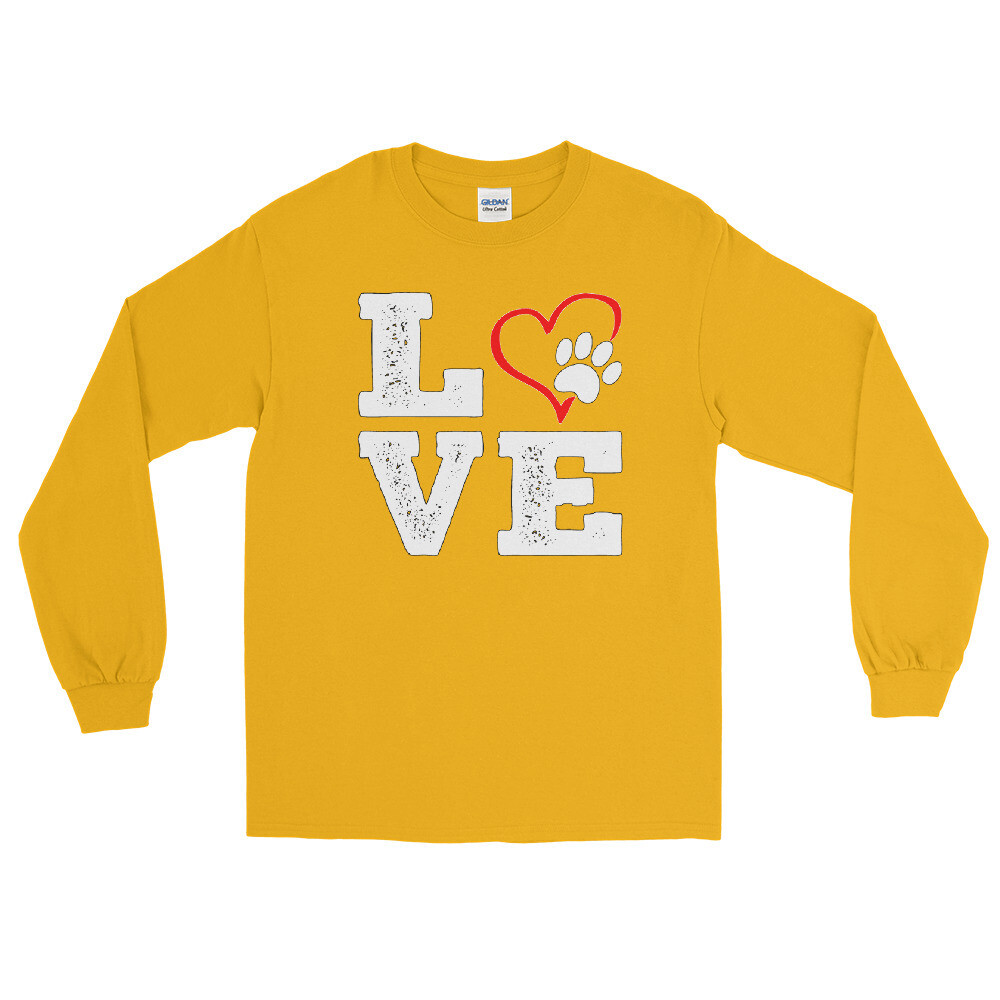 LOVE PAWS - Unisex - Long Sleeve Shirt - Gildan 2400