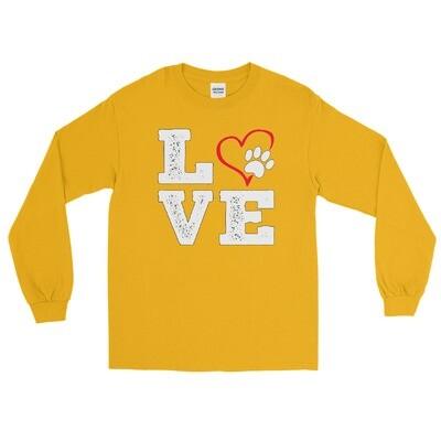 LOVE PAWS - Unisex - Long Sleeve Shirt - Gildan 2400