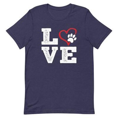 LOVE PAWS - Unisex - Premium T-Shirt - Bella+Canvas 3001