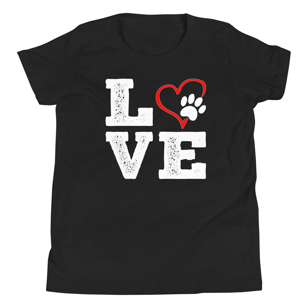 LOVE PAWS - Youth - Premium Tee - Bella+Canvas 3001Y
