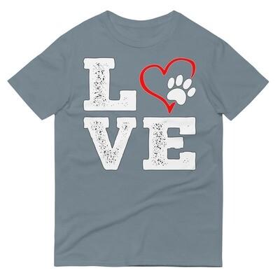 LOVE PAWS - Unisex - Lightweight T-Shirt - Anvil 980