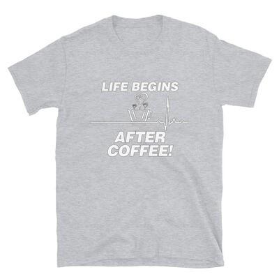 Life Begins After Coffee - Unisex - Basic Softstyle T-Shirt - Gildan 64000