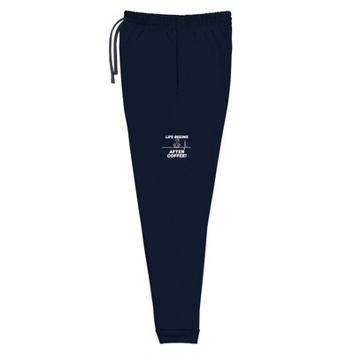 Life Begins After Coffee - Unisex - Joggers - Jerzees 975MPR