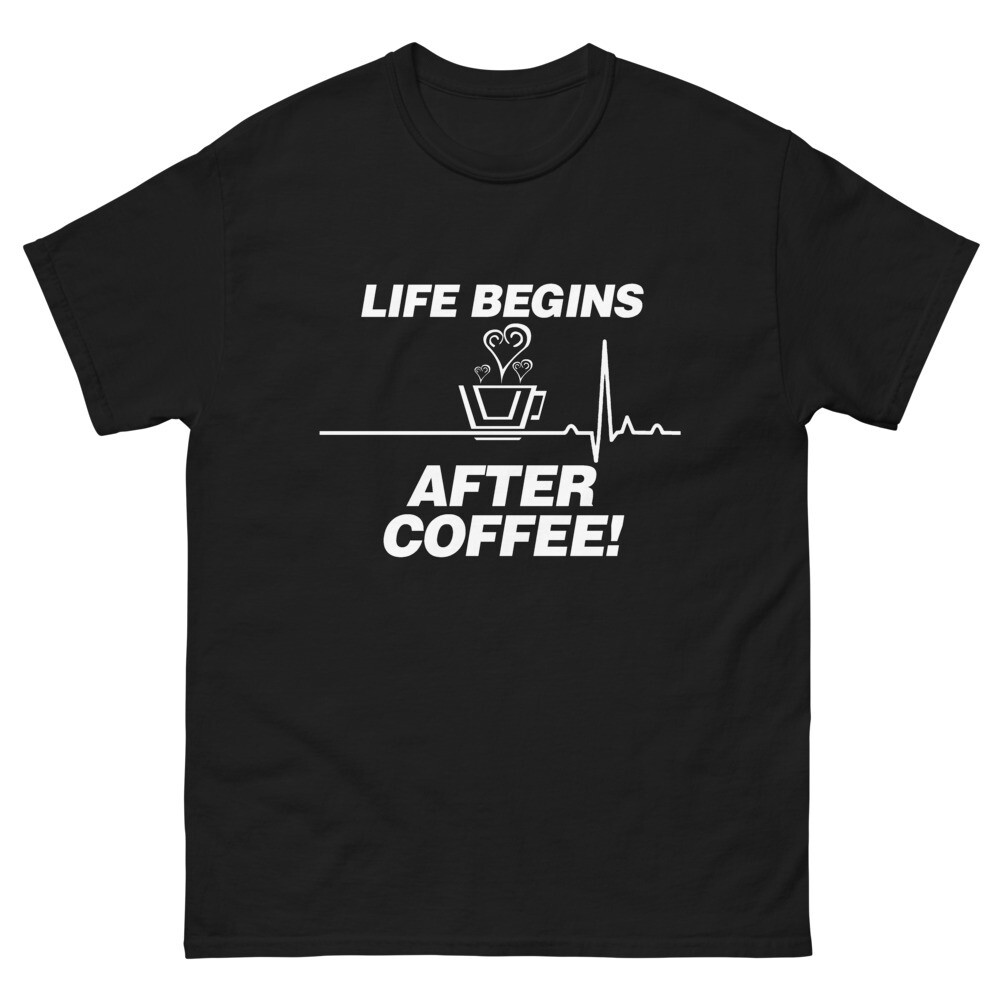 Life Begins After Coffee - Unisex - Heavyweight Tee - Gildan 5000