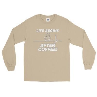 Life Begins After Coffee - Unisex - Long Sleeve Shirt - Gildan 2400