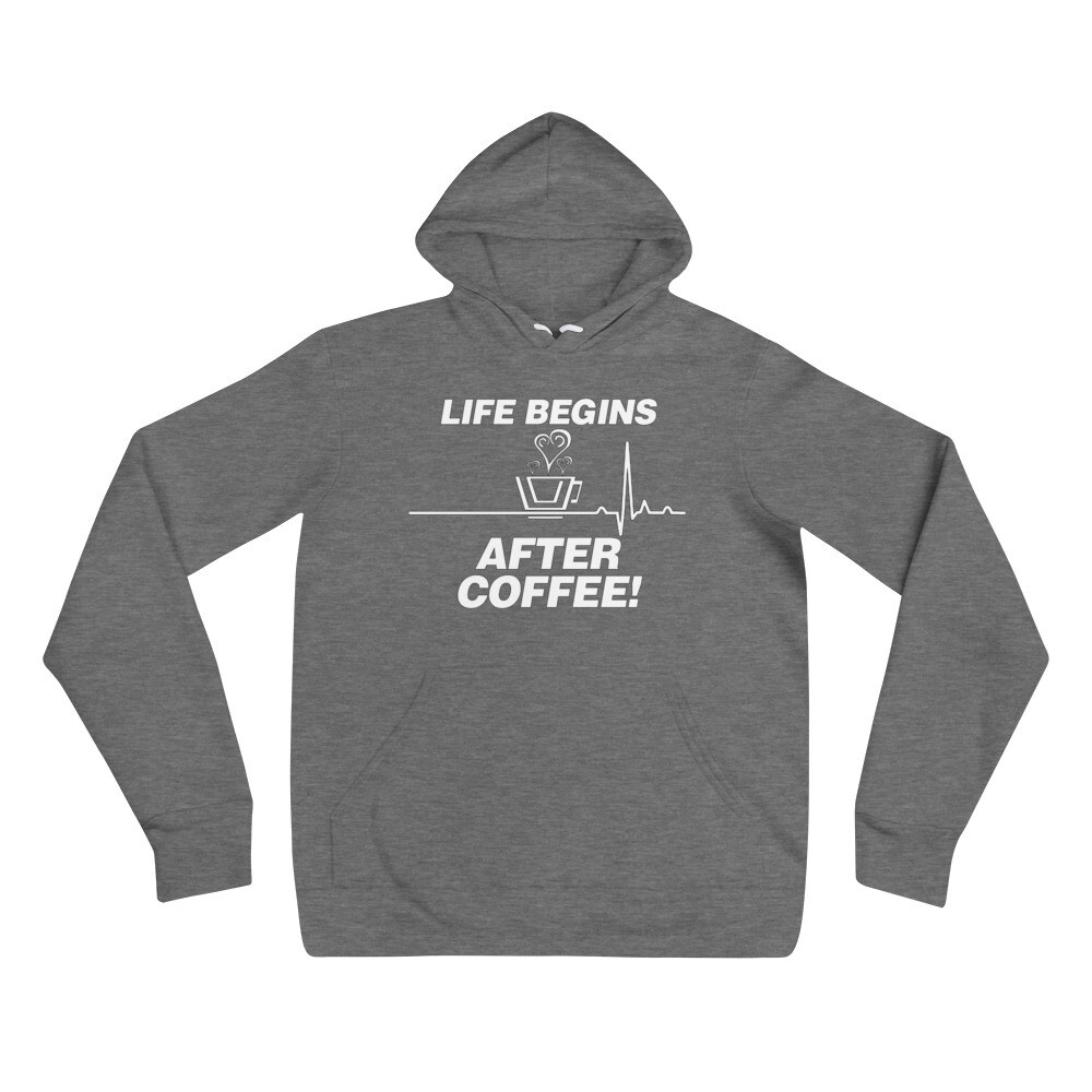 Life Begins After Coffee - Unisex - Lightweight Pullover Hoodie - Bella+Canvas 3719