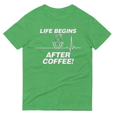 Life Begins After Coffee - Unisex - Lightweight T-Shirt - Anvil 980