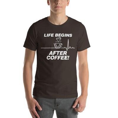 Life Begins After Coffee - Unisex - Premium T-Shirt - Bella+Canvas 3001