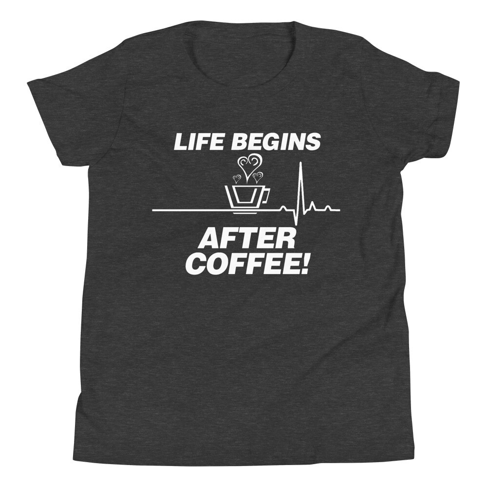 Life Begins After Coffee - Youth - Premium Tee - Bella+Canvas 3001Y