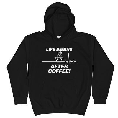 Life Begins After Coffee - Youth - Hoodie
