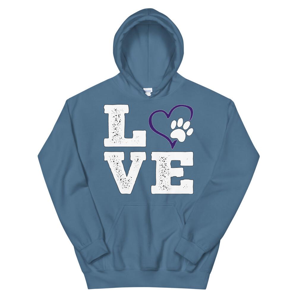 LOVE PAWS purple - Unisex - Heavy Blend Hoodie - Gildan 18500