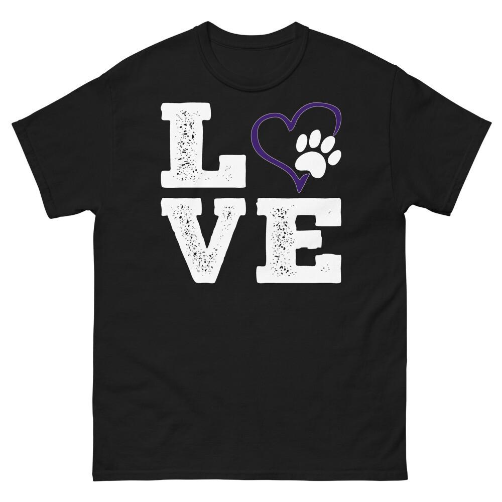 LOVE PAWS purple - Unisex - Heavyweight Tee - Gildan 5000