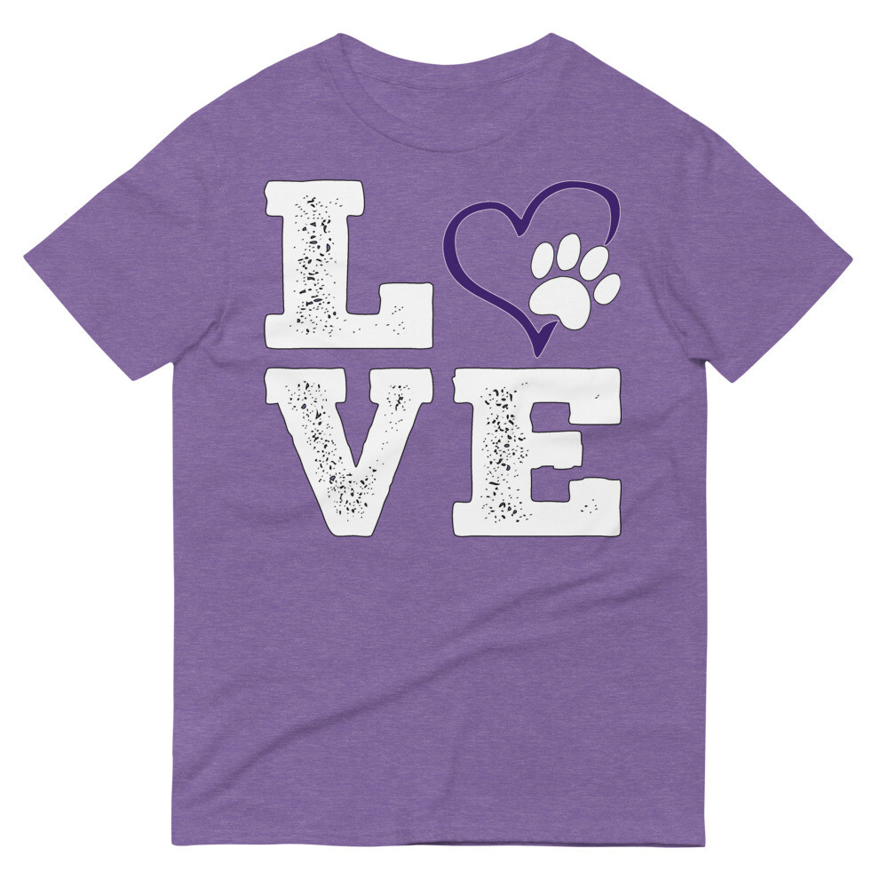 LOVE PAWS purple - Unisex - Lightweight T-Shirt - Anvil 980