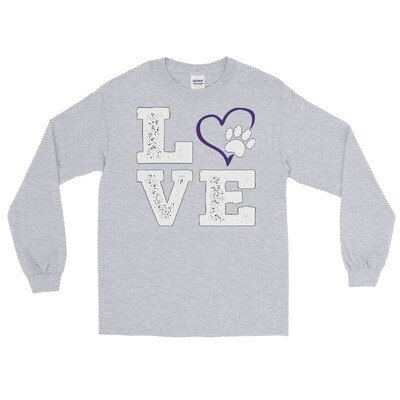 LOVE PAWS purple - Unisex - Long Sleeve Shirt - Gildan 2400