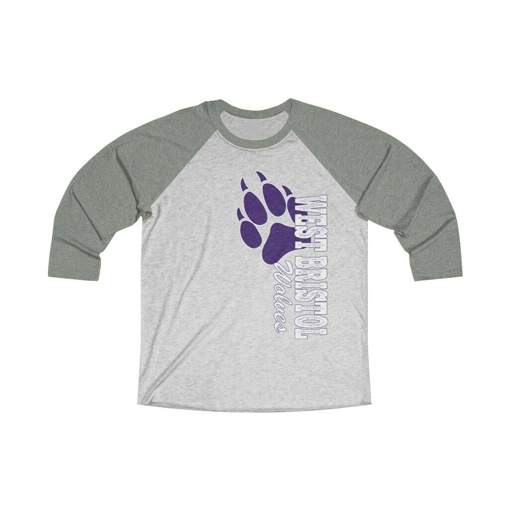 *WB Wolves - Unisex - 3/4 Sleeve Raglan Shirt - Next Level 6051