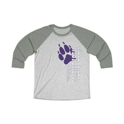 *WB Wolves -Unisex - 3/4 Sleeve Raglan Shirt - Next Level 6051