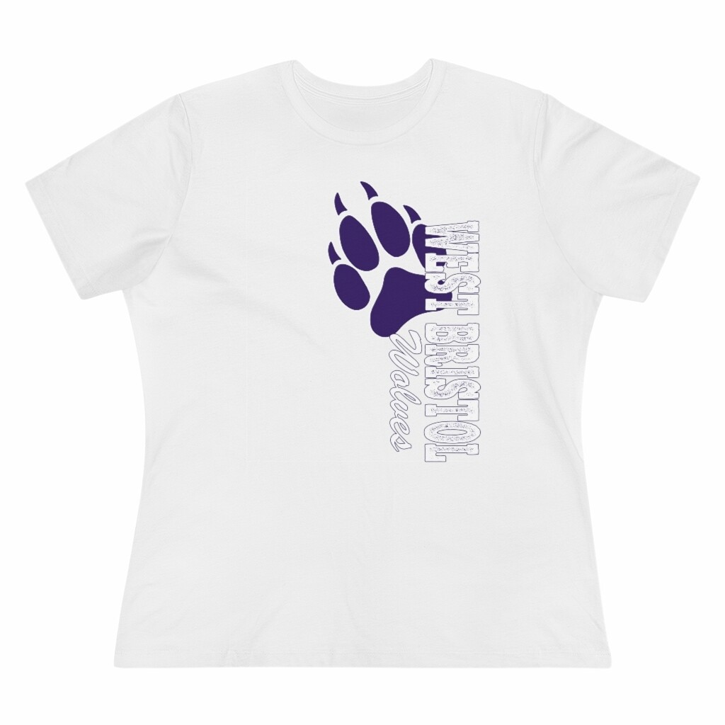 *WB Wolves - Women's - Relaxed T-Shirt - Bella+Canvas 6400