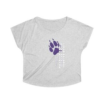 *WB Wolves -Women's - Triblend Dolman Tee - Next Level 6760