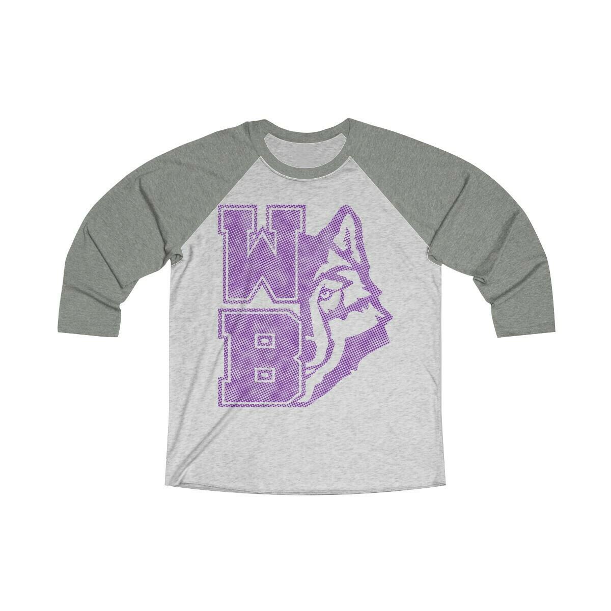 *WB Wolf (P) -Unisex - 3/4 Sleeve Raglan Shirt - Next Level 6051