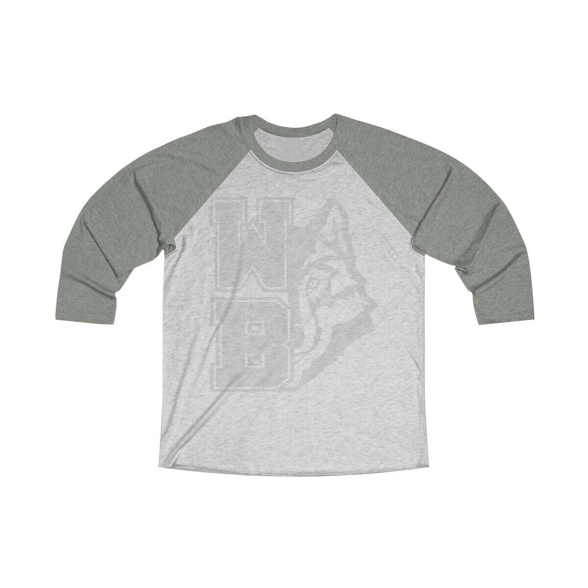 *WB Wolf (G) -Unisex - 3/4 Sleeve Raglan Shirt - Next Level 6051