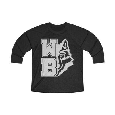 *WB Wolf (GW) -Unisex - 3/4 Sleeve Raglan Shirt - Next Level 6051