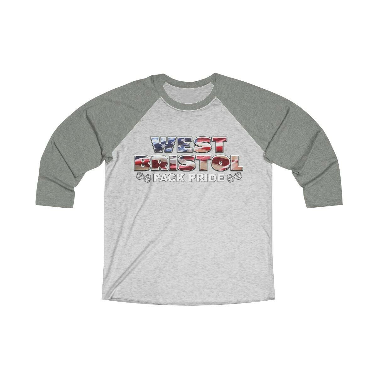 *WB Pack Pride - Unisex - 3/4 Sleeve Raglan Shirt - Next Level 6051