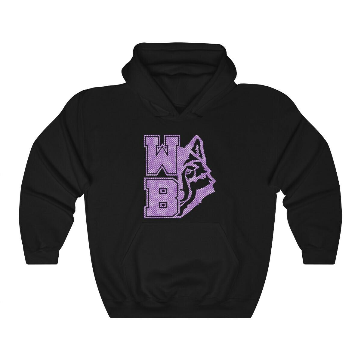 *WB wolf - purple/white - 18500
