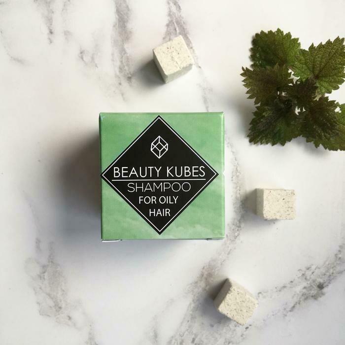 Beauty Kubes šampon v kockah - mastni lasje