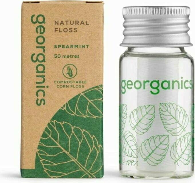 Biorazgradljiva zobna nitka Georganics - zelena meta