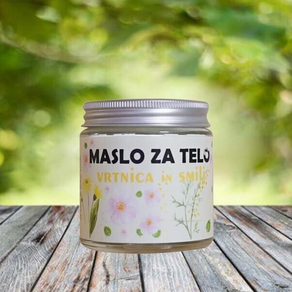 Zeliščno maslo vrtnica in smilj (Cvetka zeliščno posestvo)