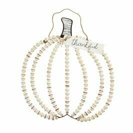 Beaded pumpkin hanger