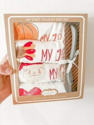 My 1st holiday bibs set