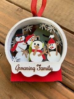 Family Snowman Christmas Ornament