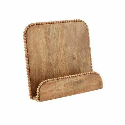 Beaded Wood Cookbook Holder