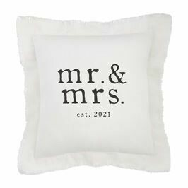 Square Mr Mrs Pillow 2021